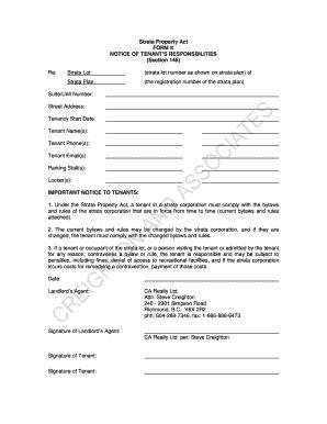 Job Application Form British Columbia Residential Tenancy