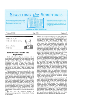 May 1992 - Searching The Scriptures
