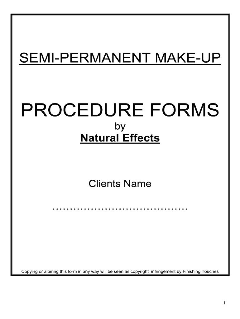 Permanent Makeup Consent Form Template