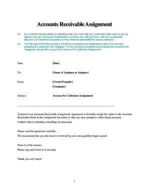Accounts Receivable Assignment Agreement - Jian