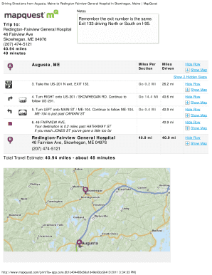 Maine Map Quest.22 Printable Mapquest Forms And Templates Fillable Samples In Pdf