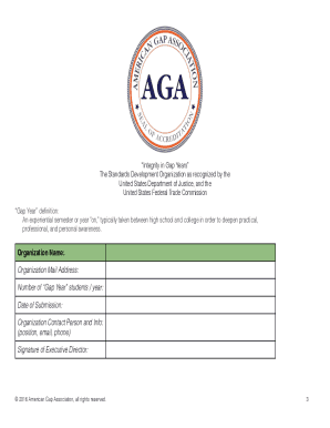 Download the AGA Standards HERE - American Gap Association