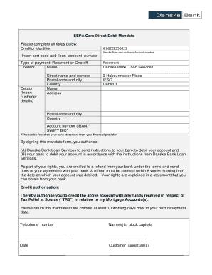 danske bank mandate forms