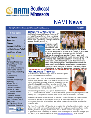 The Official Newsletter of NAMI Southeast Minnesota