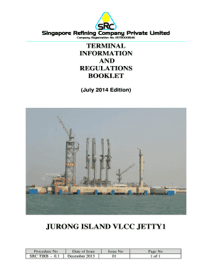 Fillable Online VLCC Jetty 1 - Singapore Refining Company