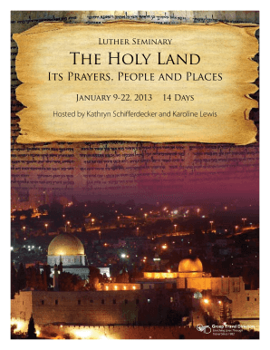 Luther Seminary The Holy Land - Group Travel Directors Inc - gtd
