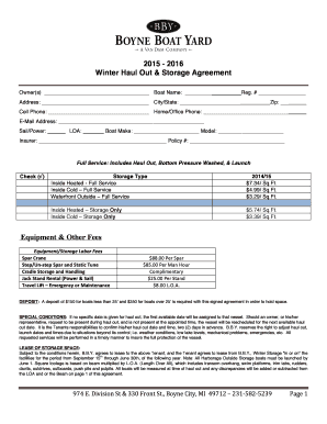 Storage Space Lease Agreement Edit Fill Print