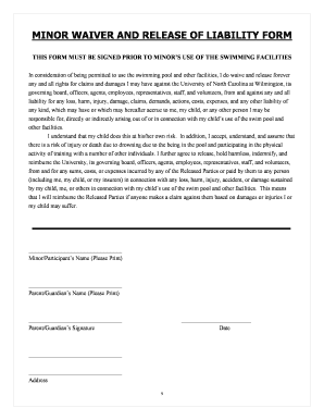 Printable Waiver And Release Of Liability Form Pdf Edit