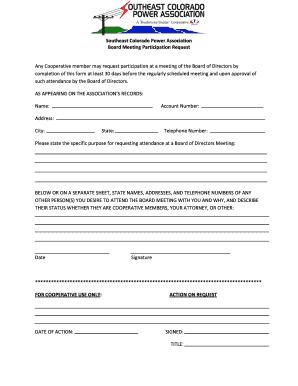 meeting attendance form