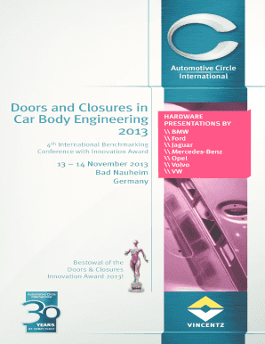 Doors and Closures in Car Body Engineering 2013