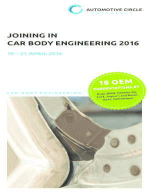 JOINING IN CAR BODY ENGINEERING 2016 - bautomotiveb-bcirclebbcomb