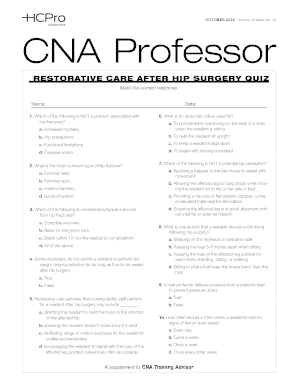 cna chapter 9 rehabilitation and restorative care - Fill Out Online
