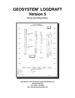 Fillable Online Boring Log Drafting Software Fax Email Print - PDFfiller