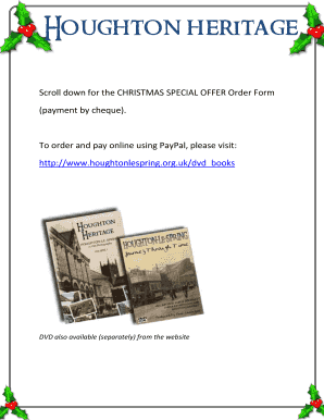 Scroll down for the CHRISTMAS SPECIAL OFFER Order Form - houghtonlespring org