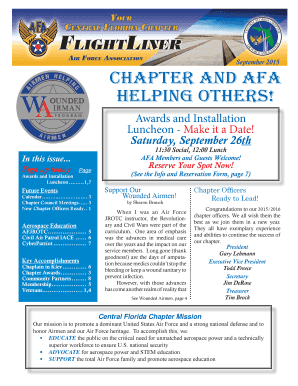 September 2015 chapter and afa helping others