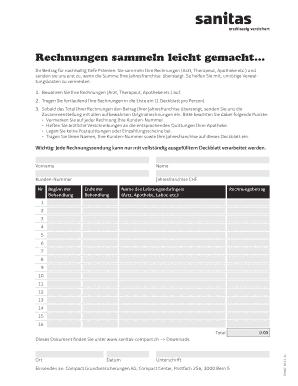 Sanitas Rechnungen Sammeln Leicht Gemacht - Fill Online, Printable ...