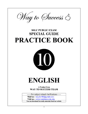 Way to Success 10th-English Public Exam Special Practice book by ... - waytosuccess