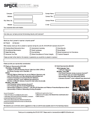 Printable individual sports sponsorship proposal template