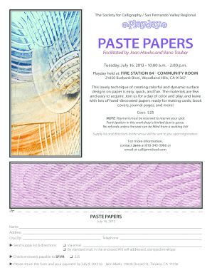 PASTE PAPERS