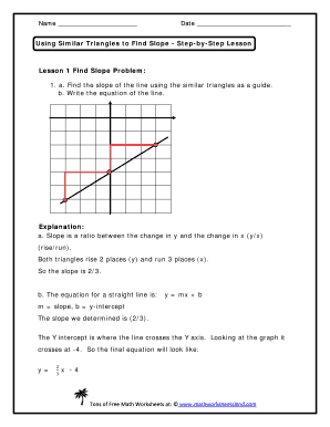 Using Similar Triangles To Find Slope Worksheet Pdf   Fill ...