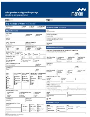 Contoh Formulir Bank Mandiri Fill Online Printable Fillable