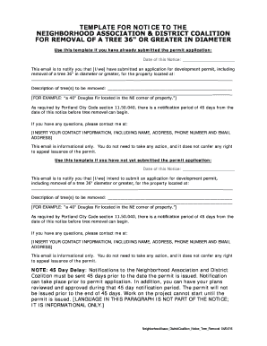 TEMPLATE FOR NOTICE TO THE RECOGNIZED ORGANIZATIONS FOR MRAA