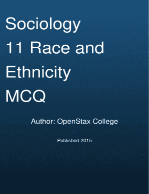 Cover Page Sociology 11 Race and Ethnicity MCQ - QuizOvercom