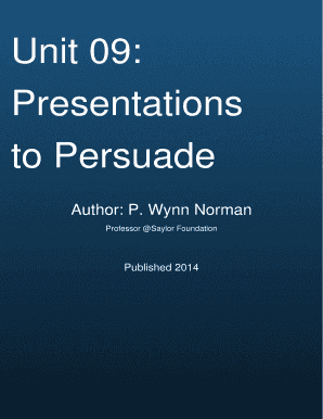 Cover Page Unit 09 Presentations to Persuade - QuizOvercom