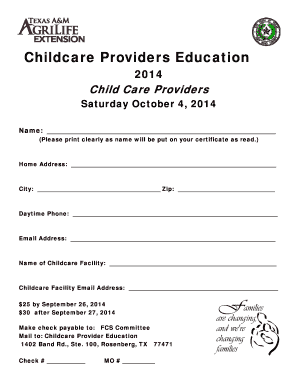 Fillable free child care flyer templates word - Download