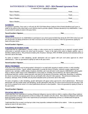 Parent Permission Form Template Fill Out Print Download
