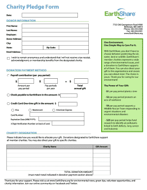 Charity Pledge Form - Intranet