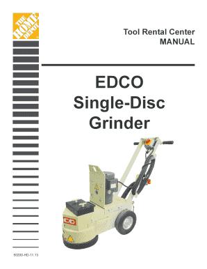 Edco Tool Rental Home Depot - Fill Online, Printable