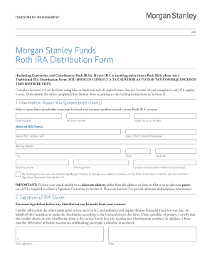 Fillable Online Morgan Stanley Funds Roth Ira Distribution