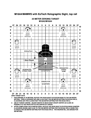 image regarding Printable Zeroing Targets called Editable m16a2 zero concentration - Fill Out, Print Obtain