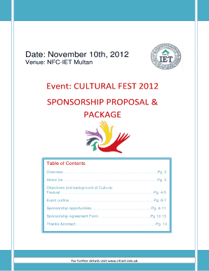 16 Printable event sponsorship proposal template free Forms