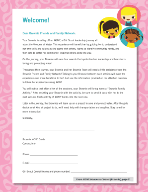 Dear Brownie Friends and Family Network