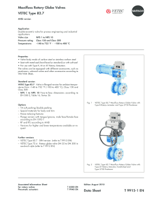 Fillable online vision solutions maxifluss rotary globe valves vetec fill online publicscrutiny Gallery