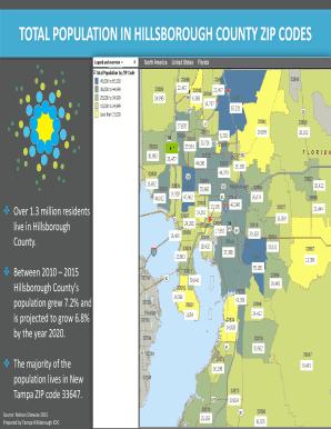 Fillable Online Total Population In Hillsborough County Zip Codes