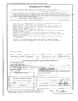 photo regarding Printable Warranty Deed titled SF 1 Brief Style Assurance DEED(NMSF-1812) (REV Fill On the web