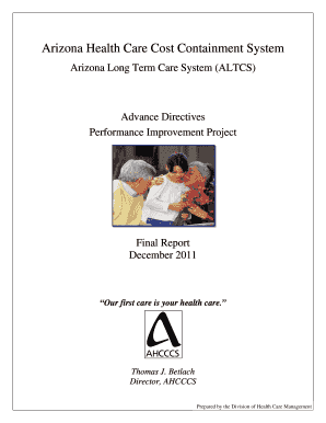 Arizona Long Term Care System (ALTCS) Fill Online, Printable ... on