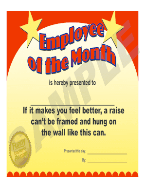 photograph about Employee of the Month Printable Certificate identified as 26 Printable Humorous Certificates Types and Templates