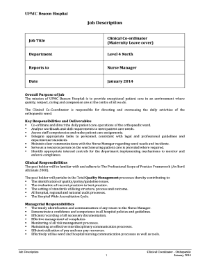 cover letter for maternity nurse with no experience - Fill, Print ...