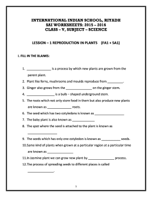 International Indian School Riyadh Worksheets Fill Online Printable Fillable Blank Pdffiller