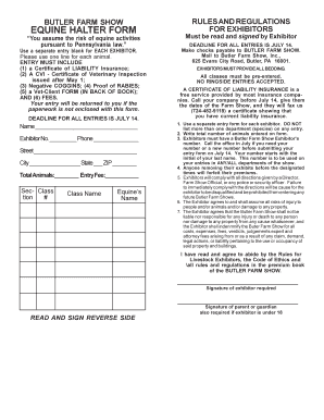 Equine Release Form | Bill Of Sale Form Pennsylvania Horse Riding Liability Release Form