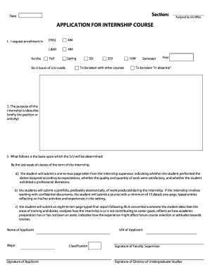 accounting internship journal sample edit print fill out date section assigned by ug office application for