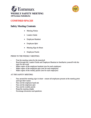 19 Printable osha safety meeting sign in sheet Forms and