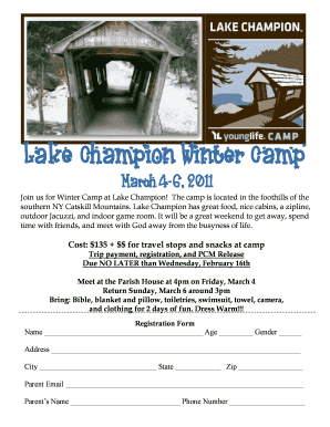 Lake Champion Winter CampLake Champion Winter Camp - pcmorristown