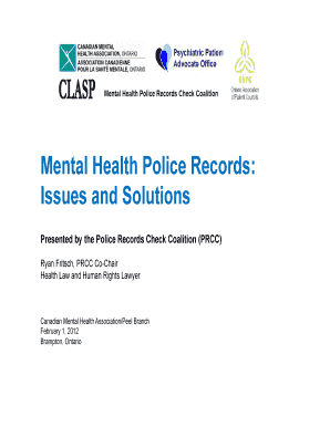 Mental Health Police Records Fill Online Printable Fillable