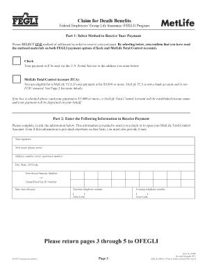 Editable Metlife life insurance claim form - Fillable & Printable ...