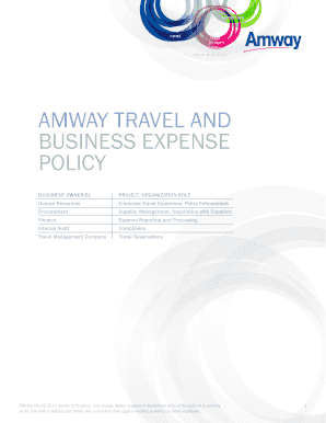 Amway travel and business expense policy - Activa Travel